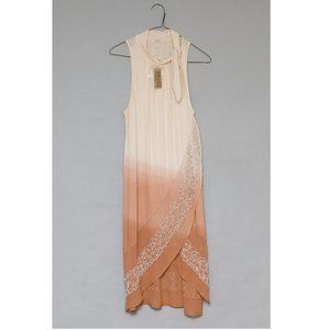 Free People Pink/Peach Ombre Beaded Tunic